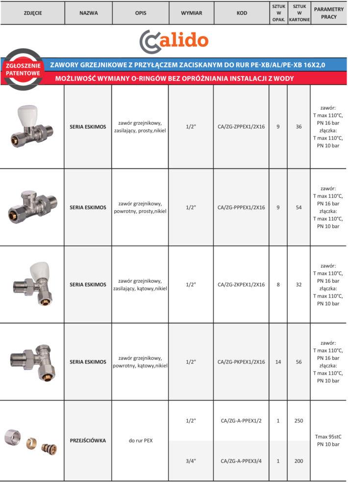 Zawory grzejnikowe do rur PE-XB/AL/PE-XB