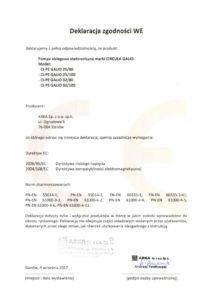 thumbnail of CIRCULA deklaracja zgodności WE – pompy obiegowe elektroniczne CIRCULA GALIO