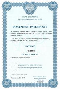thumbnail of Patent nr 228882 – zawór OGRÓD
