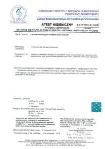 thumbnail of Atest Higieniczny – łączniki mosiężne CALIDO