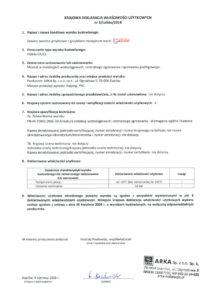thumbnail of CALIDO – deklaracja właściwości użytkowych zawory zwrotne grzybkowe (grzybek mosiężny) d.2