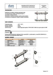 thumbnail of DURO SYSTEM – karta techniczna rozdzielacze CO