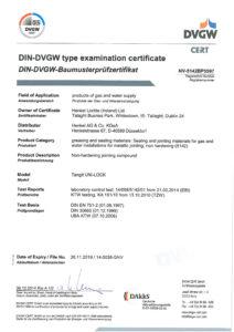 thumbnail of Certyfikat DIN DVGW – nić uszczelniająca Tangit