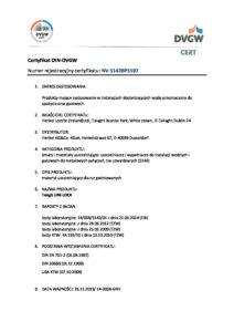 thumbnail of Certyfikat DIN DVGW – nić uszczelniająca Tangit (tłumaczenie PL)