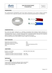 thumbnail of DURO SYSTEM – karta techniczna rura wielowarstwowa