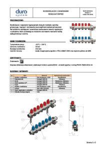 thumbnail of DURO SYSTEM – karta techniczna rozdzielacze z zaworami regulacyjnymi