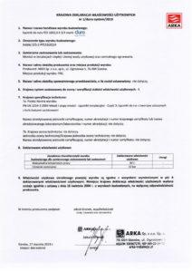 thumbnail of DURO SYSTEM – deklaracja właściwości użytkowych rozdzielacze łącznik do rury PEX