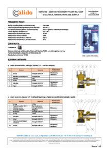 thumbnail of CALIDO – karta techniczna zestaw termostatyczny Eskimos kątowy BIANCA