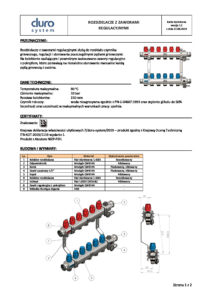 thumbnail of DURO SYSTEM – karta techniczna rozdzielacze z zaworami regulacyjnymi (K.O.T.)