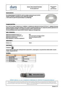 thumbnail of Karta techniczna – rura wielowarstwowa PERT-AL-PERT Duro System w. 1.1