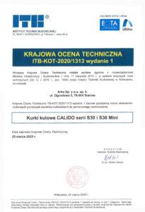 thumbnail of Krajowa ocena techniczna S30 (pierwsza strona)